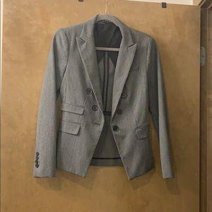 Gray blazer with black details